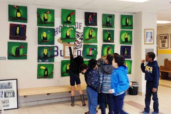 Orfe Eco-Art Workshops at schools