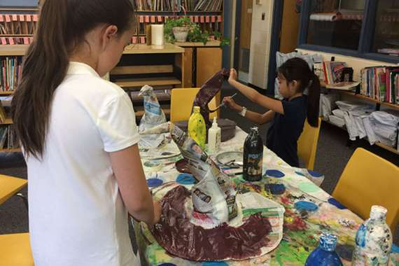Orfe eco art During Lunch Program