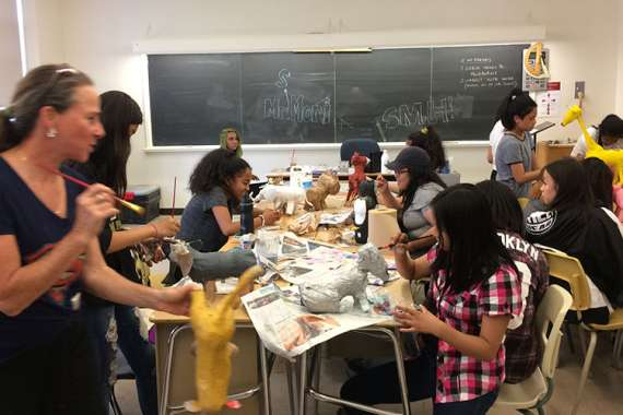 Orfe Eco-Art Workshops at schools
